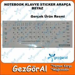 NOTEBOOK KLAVYE STICKER ARAP�A BEYAZ