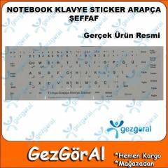 NOTEBOOK KLAVYE STICKER ARAP�A �EFFAF