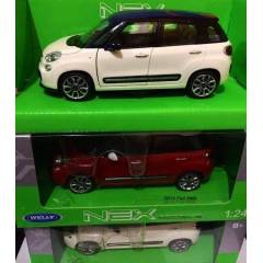 F�AT 500L FIAT 500 L 1:24 WELLY MAKET ARABA +KRG