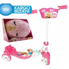 Barbie 3 Tekerlekli �ocuk Scooter Barbie Kask