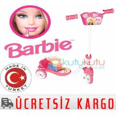 Barbie 3 Tekerlekli �ocuk Scooter Frenli
