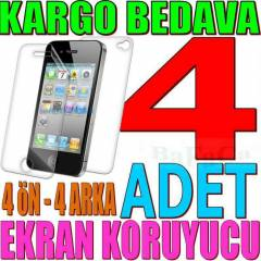 iPHONE 4 4S EKRAN KORUYUCU FiLM - MAT & �EFFAF