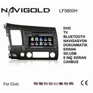 Honda Civic Uyumlu Navigasyonlu Tv Dvd FULL
