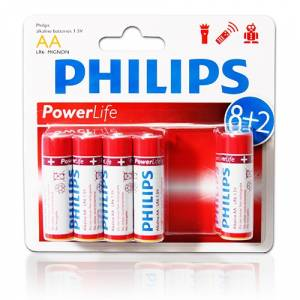 Philips AA Power Alkaline Kalem Pil (10 Adet)
