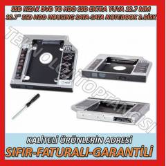 SSD CADDY 12.7 MM DVD TO SSD KIZAK 2. HDD ���N