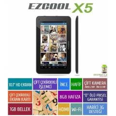 Ezcool X5 Siyah 10,1 Inch Siyah And Tablet PC