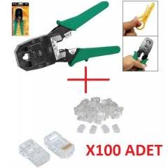 SIKMA PENSES� + 100 ADET JACK RJ45 NETWORK SET