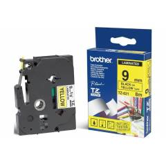 BROTHER TZE-621 SARI �ST�NE S�YAH LAMINANT (9MM)