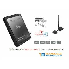NEXT Minix HD BLACK +PLUS UYDU ALICISI + Wi-Fi