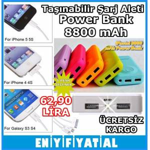 Ta��nabilir �arj Aleti , Power Bank 8800 mAh