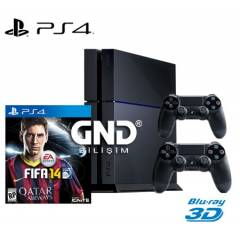 Sony PS4 500 GB + 2.Kol + Fifa 14 + PS4 Kulakl�k