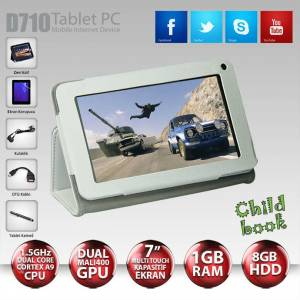 "ARTES D710 1.5 Ghz 1GB 8GB BLUETOOTH 7"" TABLET"