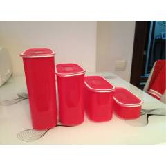 TUPPERWARE SU OVAL SET  4 PAR�A NAR ���E�� RENK