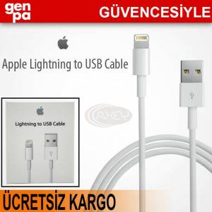 %100 ORJ�NAL APPLE iPHONE 5 USB DATA KABLOSU