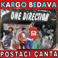 OMUZ ASKILI ONE DIRECTION POSTACI �ANTA S�YAH