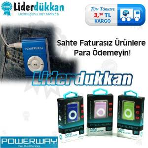 Powerway Mini MP3 Player Mp3 �alar Ayn�G�n Kargo