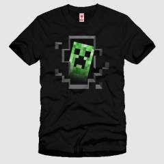 CRAZY Minecraft Creeper Inside Erkek Ti��rt
