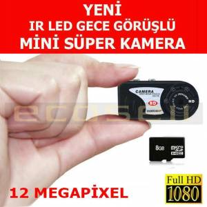 8gb 12MP Mini Kamera Full HD IR Sens�rl� KAL�TE