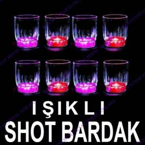 I�IKLI SHOT BARDAK LED L�GHT FLASH�NG 7X5.5 CM