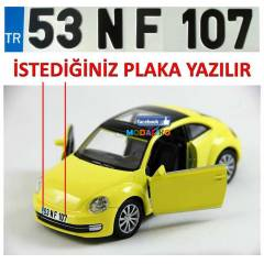 VOLKSWAGEN NEW BEETLE MAKET ARABA + �ZEL PLAKA