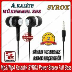 Mp3/Mp4 Kulakl�k  Power Stereo Full Bass SYROX