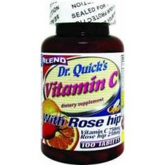 DR.QUICK'S VITAMIN-C WITH ROSE HIPS 1000mg 100Tb