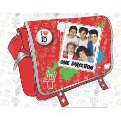 One direction �anta postac� k�rm�z� lisansl�