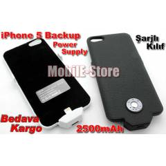 iPhone 5S-5 Bataryal� K�l�f Slim Model 2500 mAh