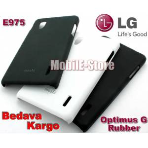 LG Optimus G E975 Slim Rubber K�l�f+3xSticker