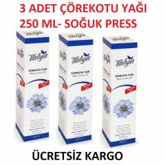 3 Adet 250 ml Saf ��rekotu Ya�� ( So�uk Press)