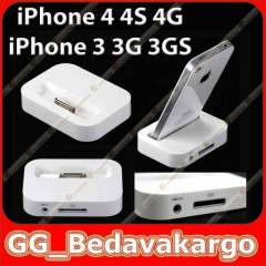 iPhone 4 4S 4G Dock Stand + Data Kablosu