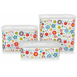 TUPPERWARE CICEKLI SU SET 3 LU