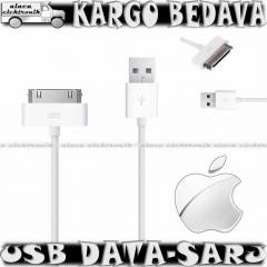 APPLE �PAD iPHONE 3S 4S USB DATA SARJ KABLOSU