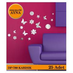 KARI�IK 1 MM  25 ADET AYNA STICKER