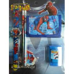 SPIDERMAN SAAT C�ZDAN VE OKUL SET�