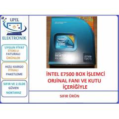 �NTEL E7500 CORE 2 DUO SIFIR BOX ��LEMC�