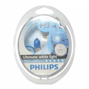 Philips Diamond Vision 12V H3 5000K Ampul Set