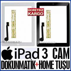 APPLE IPad 3 CAM EKRAN CAMI DOKUNMAT�K+Home Tu�u