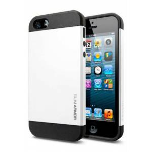 SP�GEN iPhone 5S Case Slim Armor S Smooth White