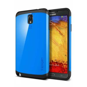 SP�GEN SGP Galaxy Note 3 Case Slim Armor Mavi