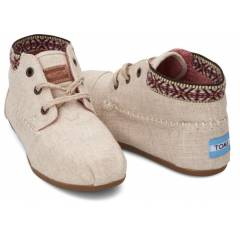 TOMS Burlap Trim Womens Tribal Boots