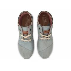 TOMS Chambray Trim Womens Tribal Boots