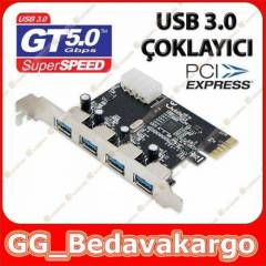 4 Port PCI Express Usb 3.0 Kart - Pci-Ex USB 3.0