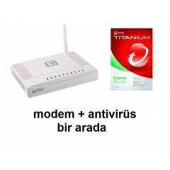 AIRTIES AIR5341 72Mbps 4PORT antivir�s hediyeli