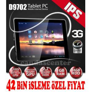 "ARTES D9702 3G 9.7"" 1GB RAM IPS2 BT 16GB TABLET"