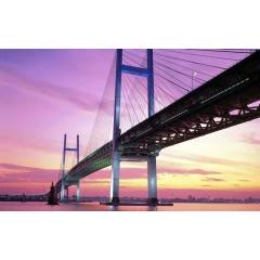 100X70 KANVAS TABLO DUSK JAPAN BRIDGE