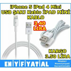 iPhone 5 iPad 4 Mini USB �ARJ Kablo �PAD M�N�