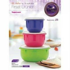TUPPERWARE M�KS�M 3-2-1 LT ��L� SET SAKLAMA KABI