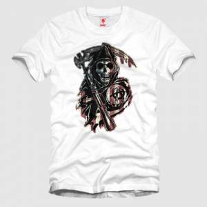 CRAZY Sons Of Anarchy Skull Erkek Ti��rt