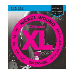 D'addario EXL170-5SL Nickel Wound 5-String Bass,